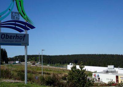 Urlaub Ferienregion Oberhof, Blick auf Skihalle