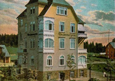 Pension Villa Immergrün Oberhof, historische Ansicht