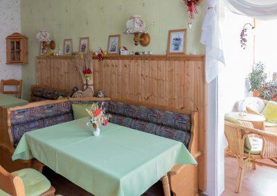 Pension Villa Immergrün Oberhof, Frühstücksbereich
