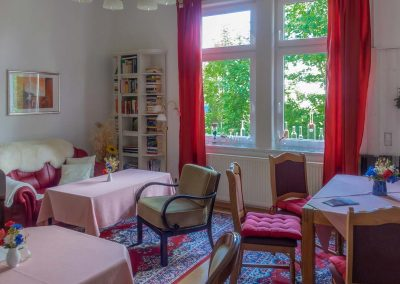 Pension Villa Immergrün Oberhof, Blick in den Gemeinschaftsraum