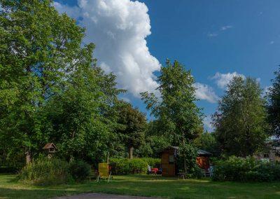 Pension Villa Immergrün Oberhof, Gartenansicht