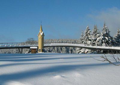 Rondell bei Oberhof im Winter